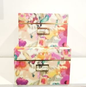 Kate Spade Giverny Floral Storage Box Set